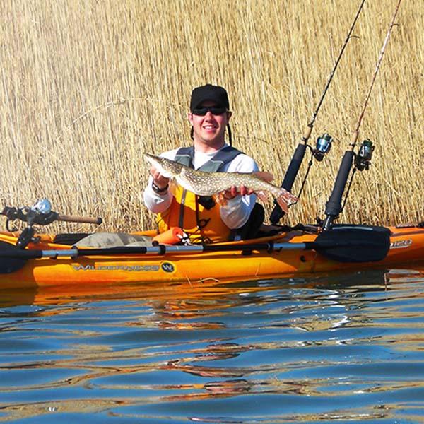 Wilderness pungo 140 angler fishing kayak nautical for Wilderness fishing kayak